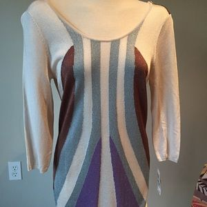 NWT graphic knit dress scoop back